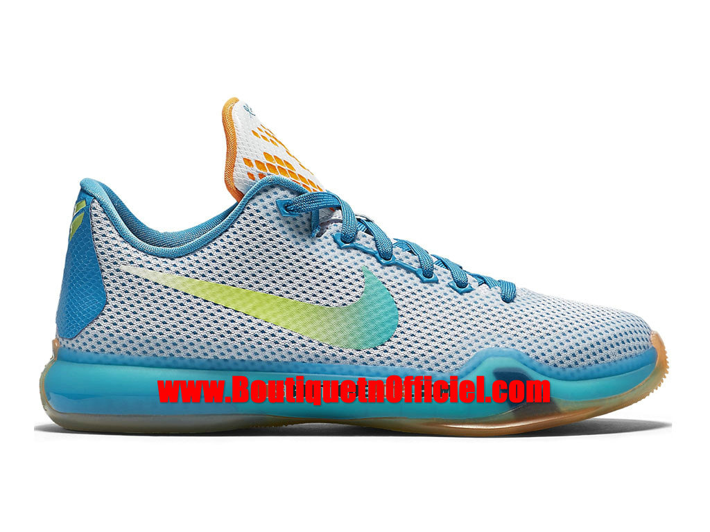 nike kobe 10 x men s nike basketball shoes white blue lagoon total orange key lime 726067 100h. Black Bedroom Furniture Sets. Home Design Ideas