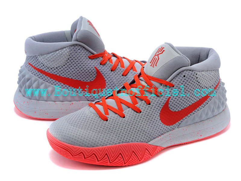 Nike Kyrie 1 Chaussures nike hyperdunk kyrie Pour Homme Gris/Rouge 705277-ID1