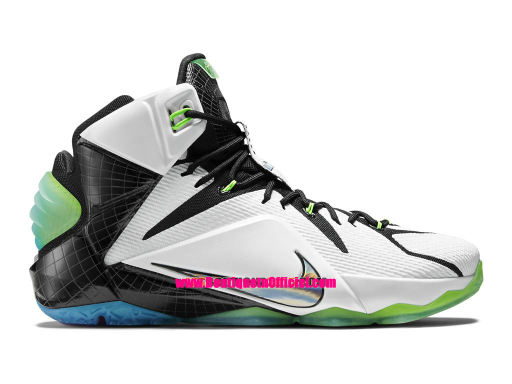 Nike Lebron 12/XII All-Star Zoom City Collection - Chaussures Nike Baskets Pas Cher Pour Homme Blanc/Noir-Multicolore