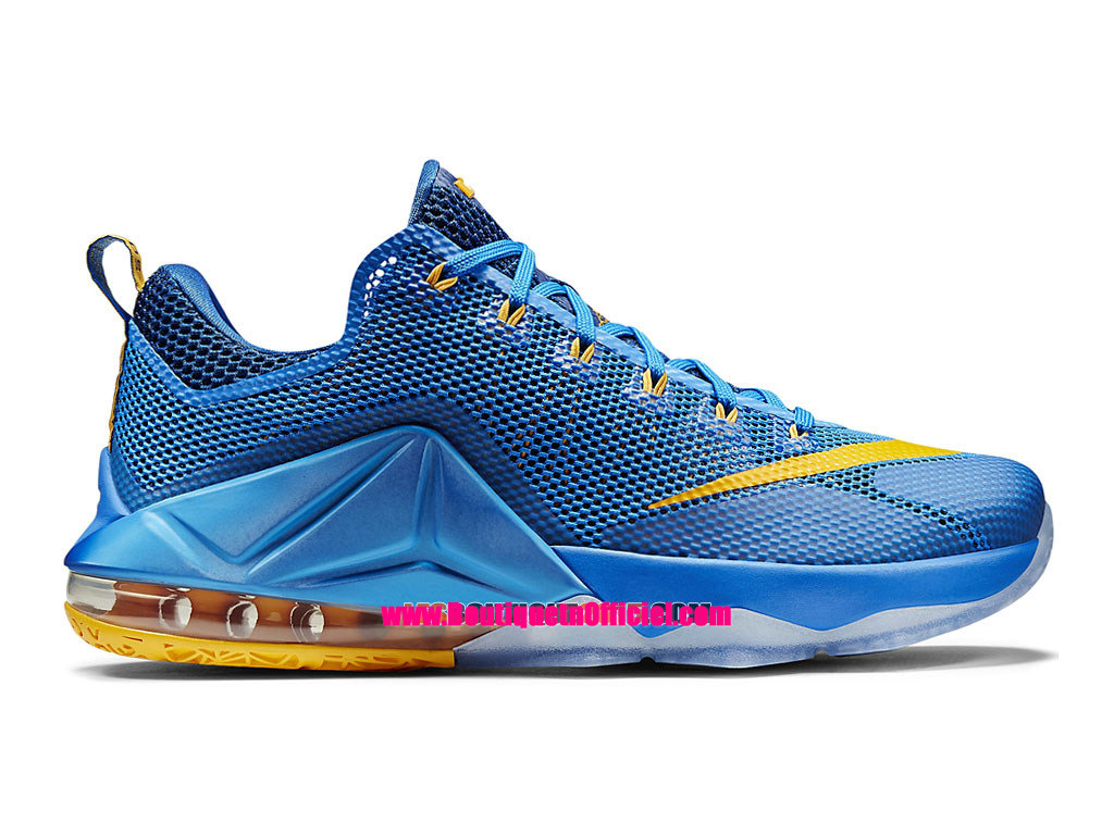 Nike Lebron 12/XII Low - Chaussure Nike Baskets Pas Cher Pour Homme Bleu photo/Bleu Gym-Or Université