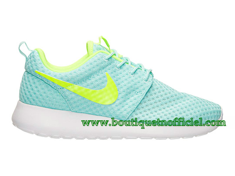 Nike Roshe One Breeze GS Chaussures Nike Pas Cher Pour Femme Vert/Blanc 724850-731