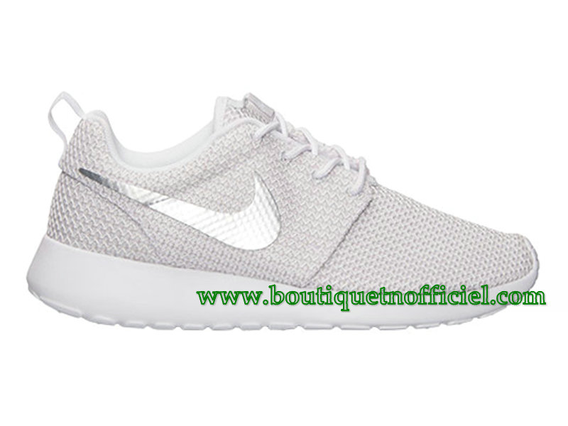 Nike Roshe One GS Chaussures Nike Pas Cher Pour Femme Blanc 511882-103