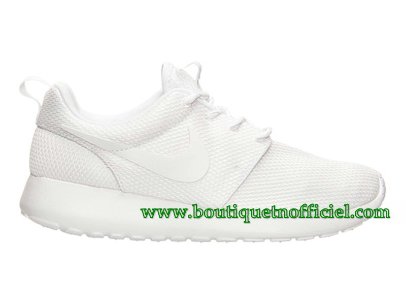 Nike Roshe One GS Chaussures Nike Pas Cher Pour Femme Blanc 511882-111