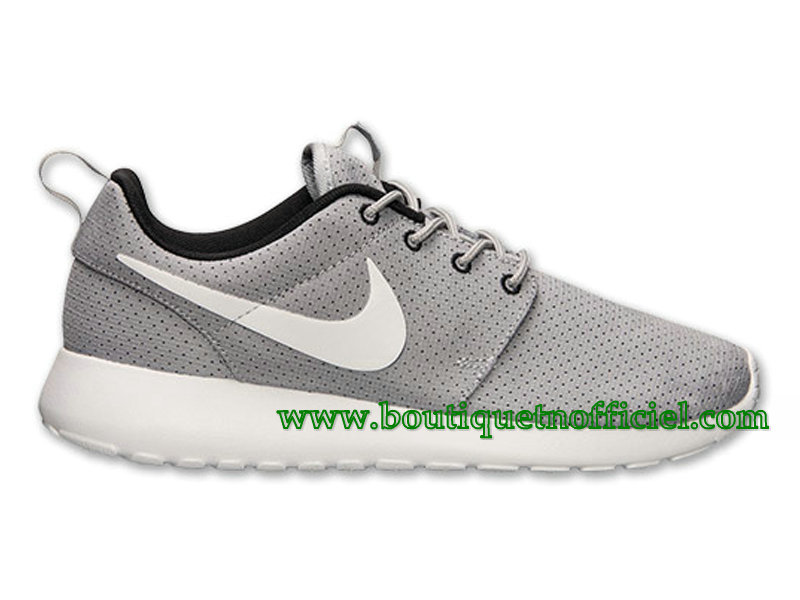 Nike Roshe One GS Chaussures Nike Pas Cher Pour Femme Gris/Blanc 511882-091
