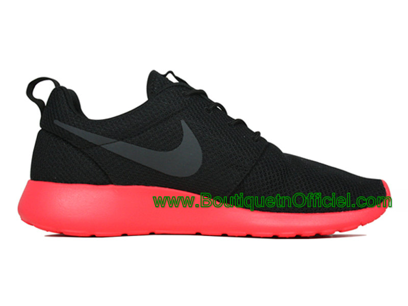 Nike Roshe Run One Chaussures Pour Homme Noir/Rouge 511881-016