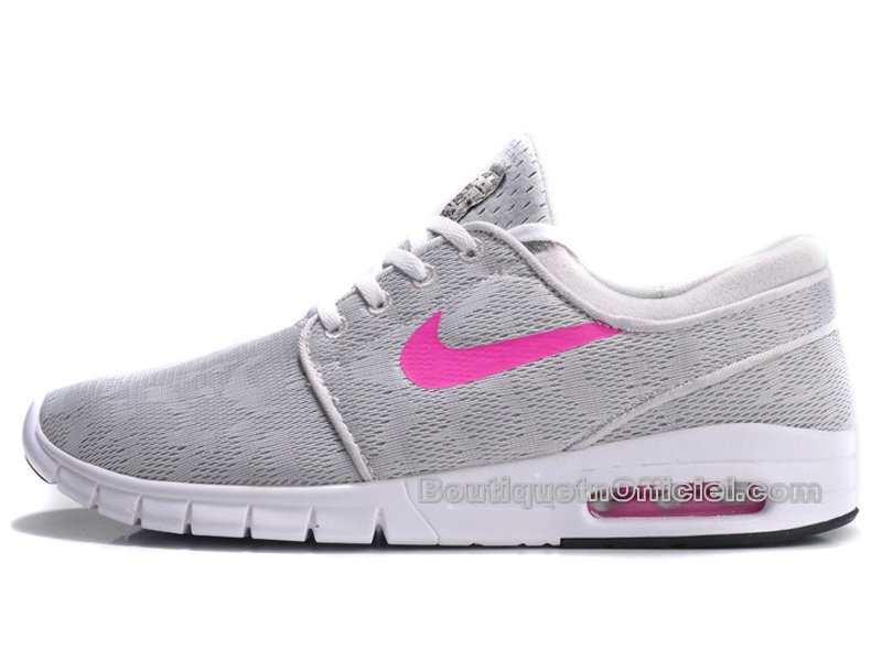 new style d3ca4 134af ... Nike SB Stefan Janoski Max - Chaussure Nike Skateboard Pas Cher Pour  Homme Base Gris/