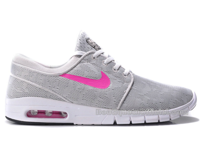 Nike SB Stefan Janoski Max Chaussure Nike Skateboard Pas Cher Pour Homme Base GrisBright Magenta Blanc 631303 061 Officiel Nike Site! Chaussures Tn