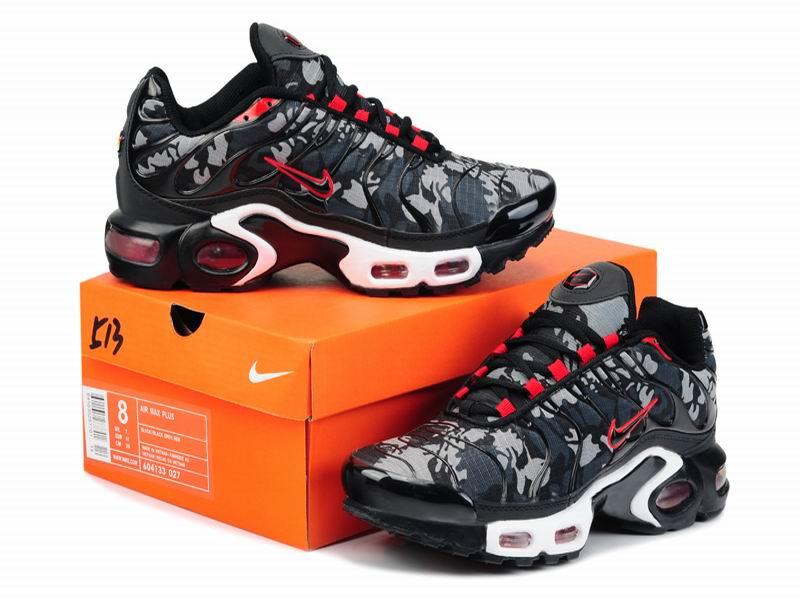 Nouveau Nike Air Max Tn RequinNike Tuned 2014 Chaussures de Basket Ball Pour Homme NoirRouge 1507080989 Officiel Nike Site! Chaussures Tn