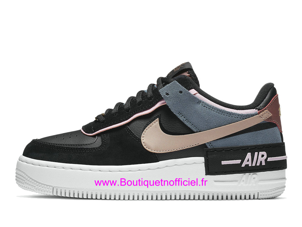Officiel Nike Air Force 1 Shadow Black Metallic Red Chaussures Nike Basket Pas Cher Pour Femme/Enfant CU5315-001