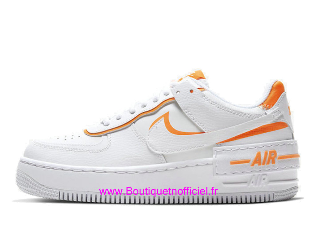 Officiel Nike Air Force 1 Shadow Total Orange CI0919-103 Chaussures Nike 2021 Pas Cher Pour Femme/Enfant