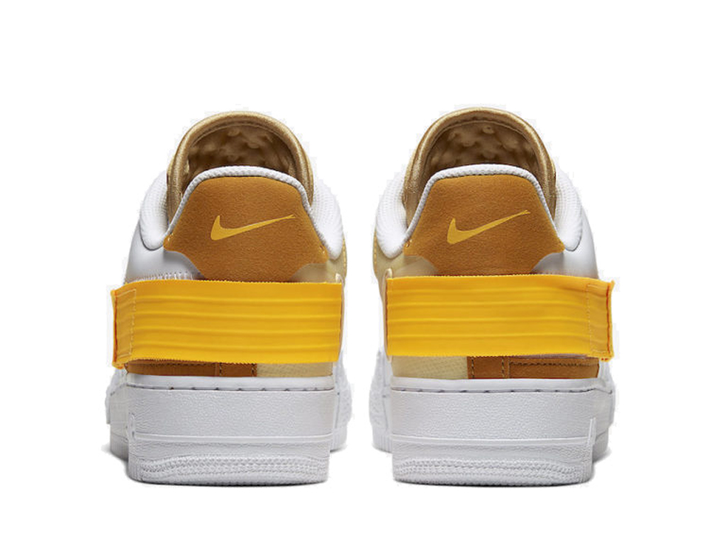 Officiel Nike Air Force 1 Type Or Blanc AT7859 100 Chaussure
