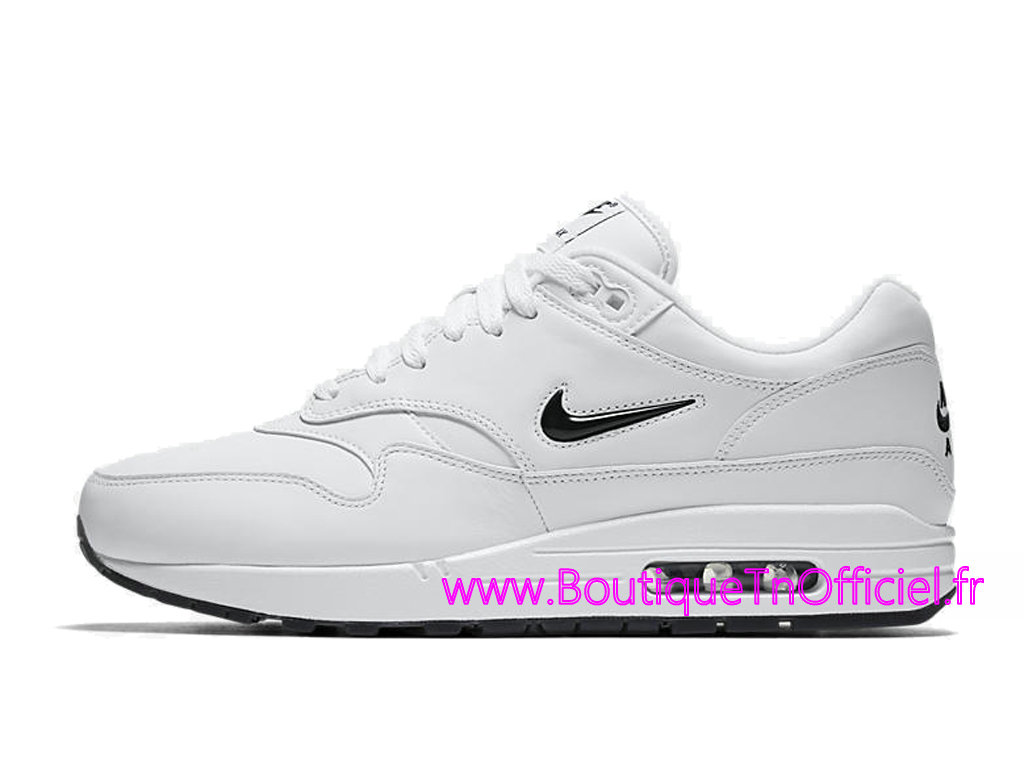 uk availability 1bcff c1b2f ... Officiel Nike Air Max 1 Premium SC Chaussures Nike 2018 Pas Cher Pour  Homme Blanc Noir ...