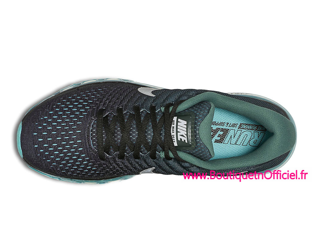 pretty nice ed906 c1415 ... Officiel Nike Air Max 2017 Chaussures de BasketBall Pas Cher Pour Homme  Noir Vert 849559 002 ...