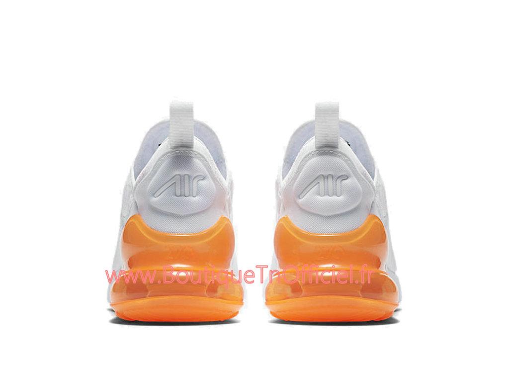 super popular a7872 0e644 ... Officiel Nike Air Max 270 Chaussures Nike Prix Pas Cher Pour Homme Blanc  Orange AH8050-
