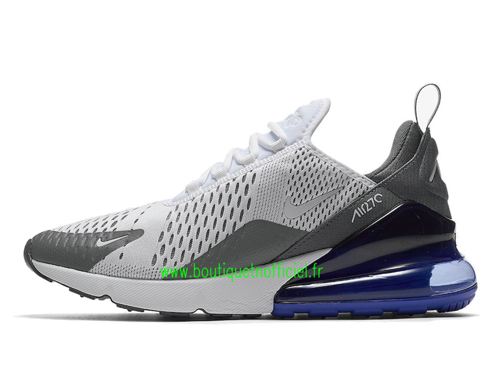 Officiel Nike Air Max 270 Chaussures Nike Running Prix Pas Cher Pour Homme Blanc Gris AH8050-107