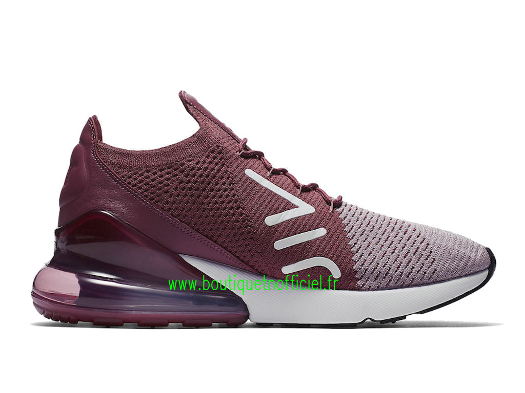 da0a1a1cc54 ... Officiel Nike Air Max 270 Flyknit Chaussures Nike Running Prix Pas Cher  Pour Homme Blanc Rose ...