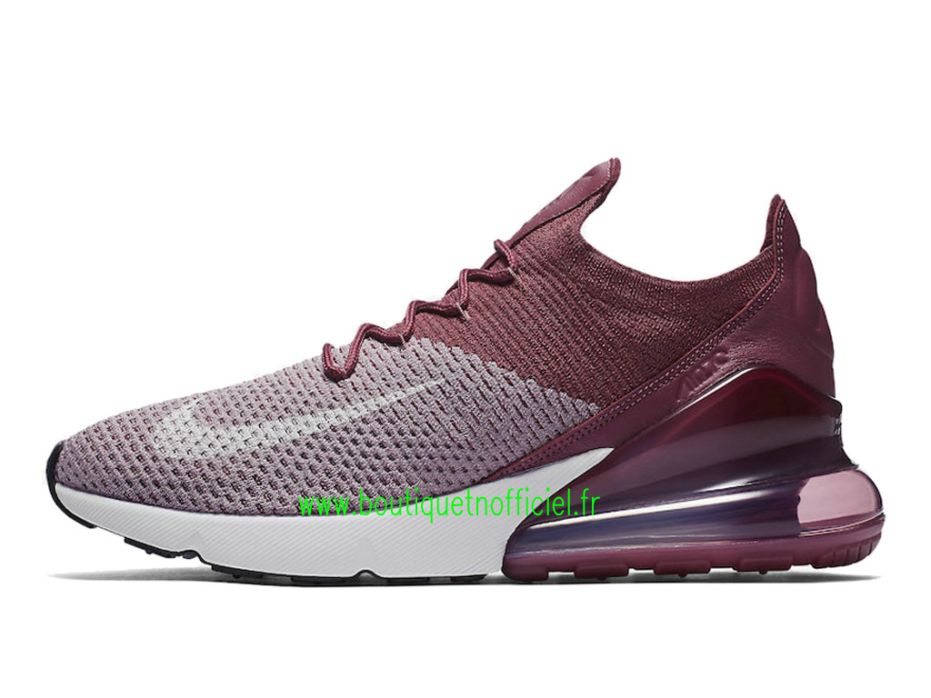 Officiel Nike Air Max 270 Flyknit Chaussures Nike Running Prix Pas Cher Pour Homme Blanc Rose AO1023-500