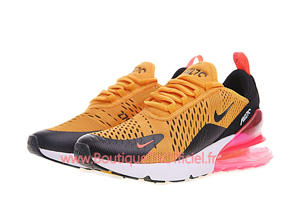 officiel nike air max 270 gs chaussures nike prix pas cher pour femme enfant jaune noir ah8050. Black Bedroom Furniture Sets. Home Design Ideas