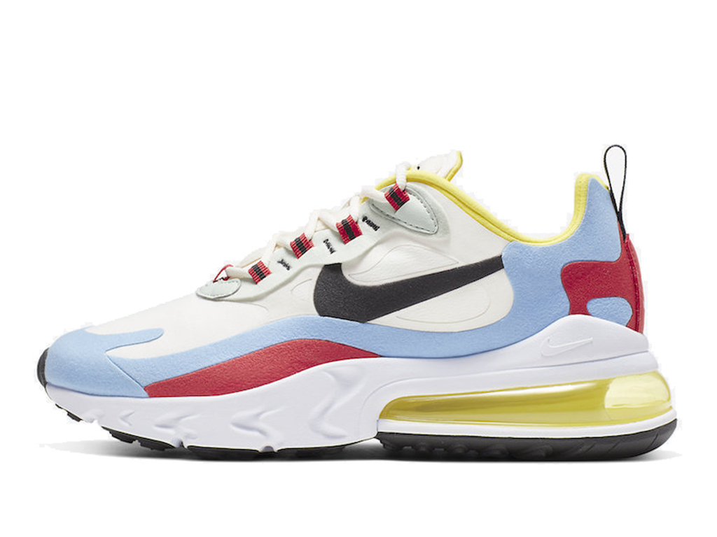 Officiel Nike Air Max 270 React Chaussures Nike 2019 Pas Cher Pour Homme Blanc Rose AT6174-002