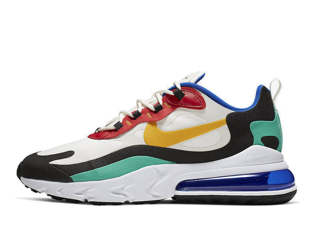 Officiel Nike Air Max 270 React Chaussures Nike Prix Pas Cher Pour Homme Blanc Vert AO4971-002