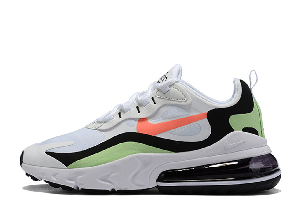 Officiel Nike Air Max 270 React Chaussures Nike Running Pas Cher Pour Homme Blanc Vert