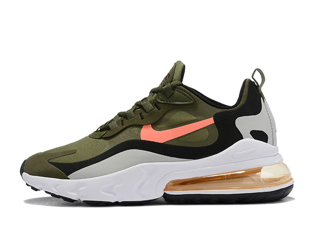 Officiel Nike Air Max 270 React Chaussures Nike Running Pas Cher Pour Homme Brun White