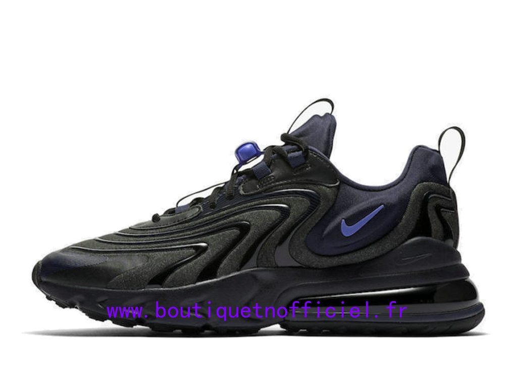 Officiel Nike Air Max 270 React Eng Black Sapphire Chaussures Nike 2020 Pas Cher Pour Homme CD0113-001