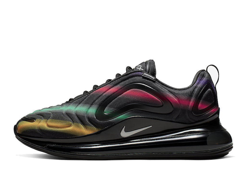 Officiel Nike AIR Max 720 Black/Metallic Silver AO2924-023 Chaussures Nike 2020 Pas Cher Pour Femme
