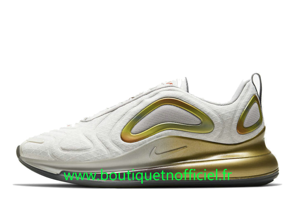 Officiel Nike Air Max 720 Chaussures Nike 2020 Pas Cher Pour Homme Blanc Or CI3870-100