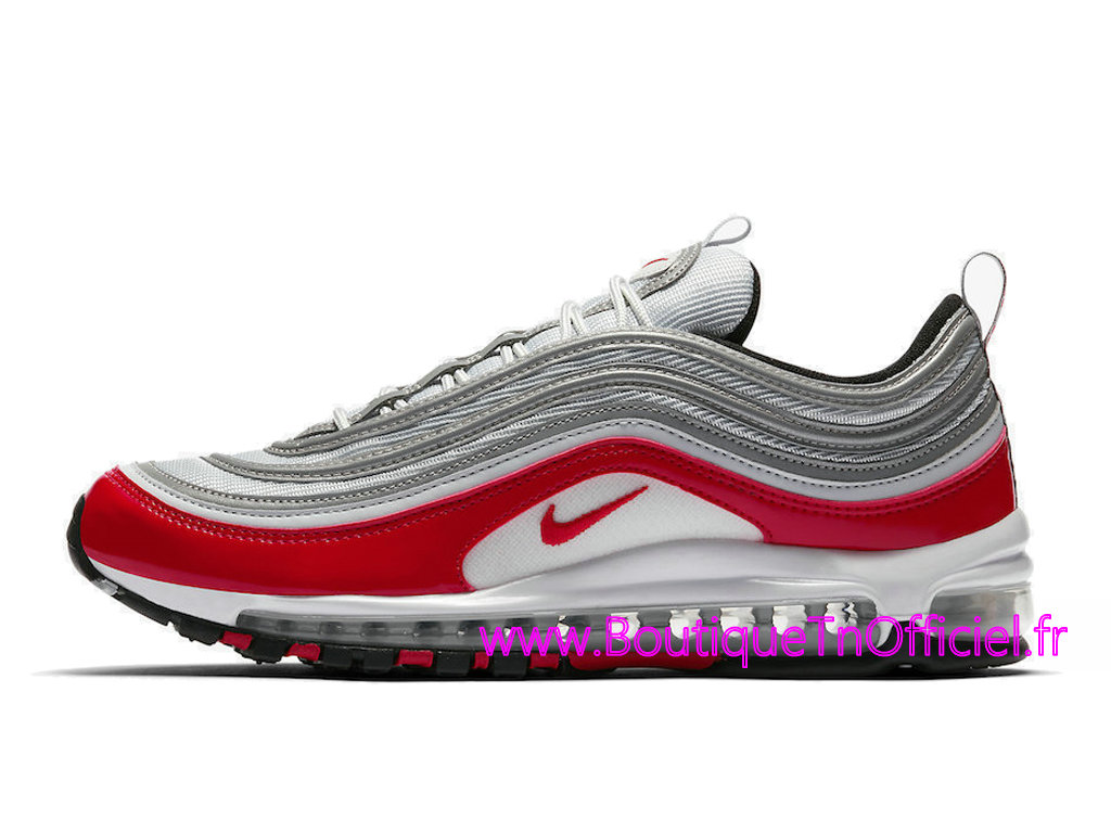 super popular f4ab4 48cae Officiel Nike Air Max 97 University Red Chaussures Nike Prix Pas Cher Pour  Homme Rouge Gris