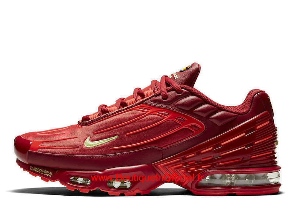 Officiel Nike Air Max Plus 3 Chaussures Nike Basket Pas Cher Pour Homme Rouge Or CK6715-600