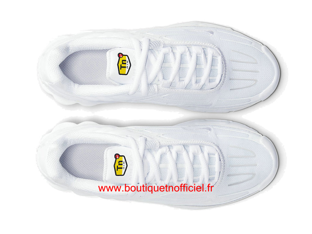 Officiel Nike Air Max Plus 3 Chaussures Nike Basket_Ball Pas Cher Pour Homme Blanc CD6871-100