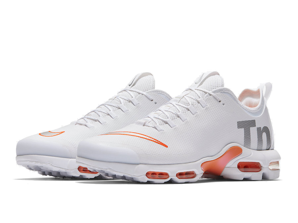 Officiel Nike Air Max Tn Ultra Se Chaussures de BasketBall 2019 Pas Cher Pour Homme Blanc Orange AQ0242-100