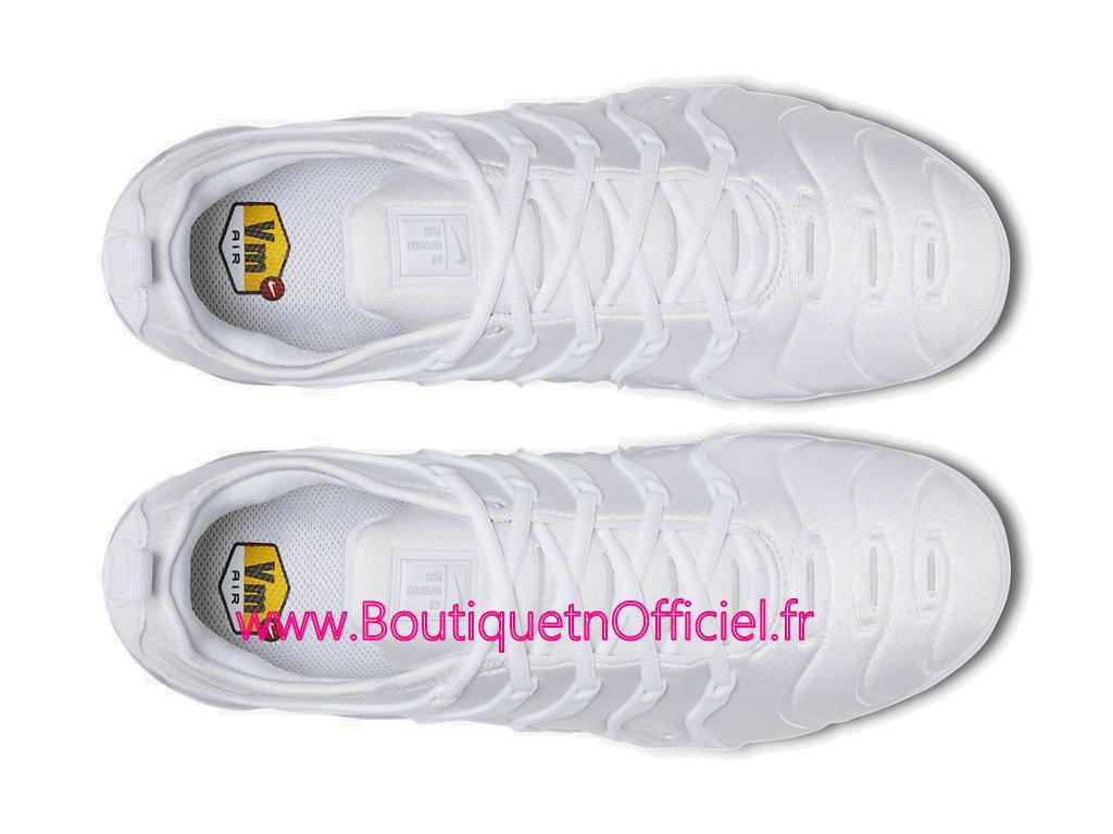 best website eaefd 4f759 ... Officiel Nike Air Vapormax Plus 2018 Chaussures de Basket Pas Cher Pour  Homme Blanc 924453- ...