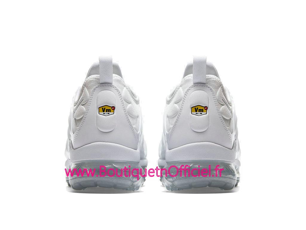 best website d3784 b4bad ... Officiel Nike Air Vapormax Plus 2018 Chaussures de Basket Pas Cher Pour  Homme Blanc 924453-