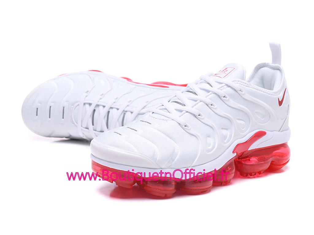 5331160bbdb49 ... Officiel Nike Air Vapormax Plus 2018 Chaussures de Basket Pas Cher Pour  Homme Blanc Rouge 924453 ...