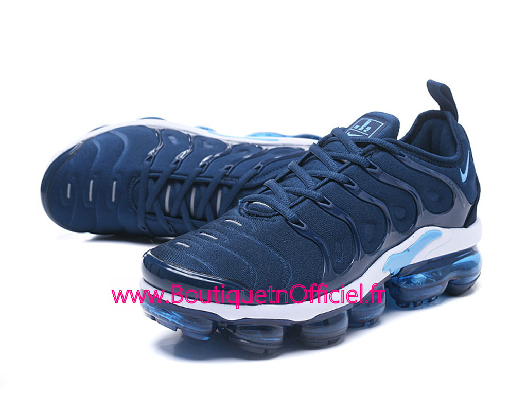 34867b9d6efeb ... Officiel Nike Air Vapormax Plus 2018 Chaussures de Basket Pas Cher Pour  Homme Bleu Blanc 924453 ...