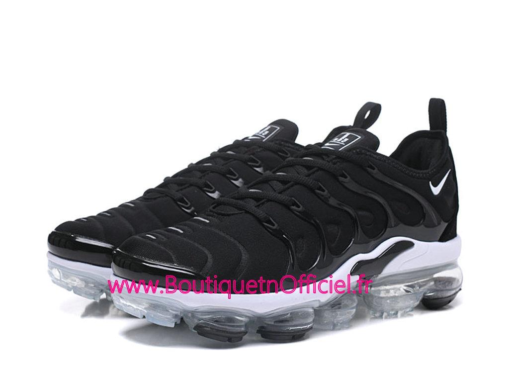8cd3978aa3e2b ... Officiel Nike Air Vapormax Plus 2018 Chaussures de Basket Pas Cher Pour  Homme Noir Blanc 924453 ...