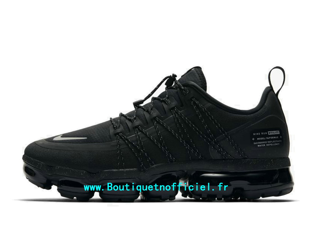 Officiel Nike Air VaporMax Run Utility Black Reflect Silver AQ8810-003 Chaussures Nike 2020 Pas Cher Pour Homme
