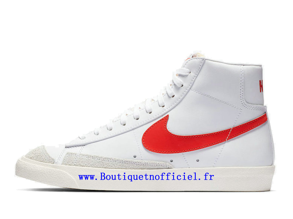 Officiel Nike Blazer Mid '77 Vintage Chaussures Nike Running Pas Cher Pour Homme Blanc Rouge BQ6806-600