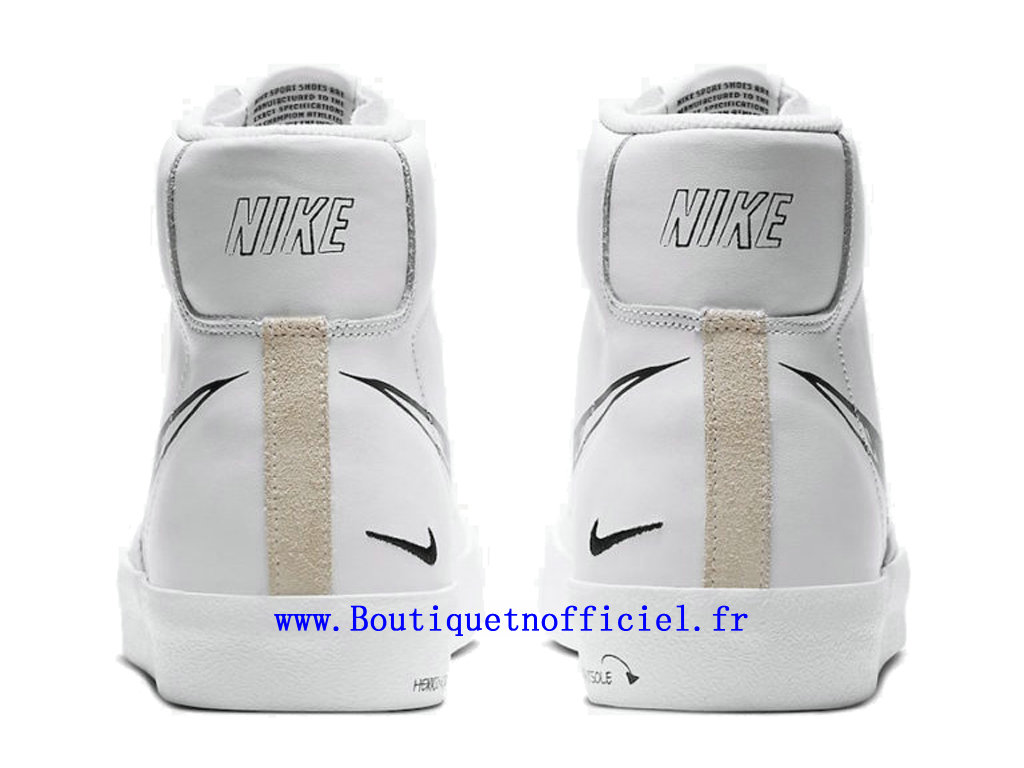 Officiel Nike Blazer Mid 77 Sketch Chaussures Nike Running Pas Cher Pour Homme Blanc Noir CW7580-101