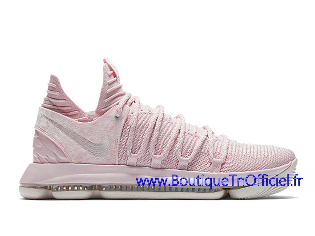 Officiel Nike KD 10 Aunt Pearl Chaussures Nike 2018 Pas Cher Pour Homme Rose AQ4110-600