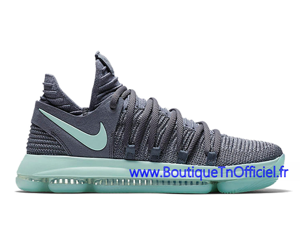 Officiel Nike KD 10 Igloo Chaussures Nike 2018 Pas Cher Pour Homme Vert Gris 897816-002