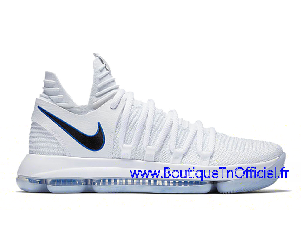 Officiel Nike KD 10 Opening Night Chaussures Nike 2018 Pas Cher Pour Homme Blanc Noir 897815-101