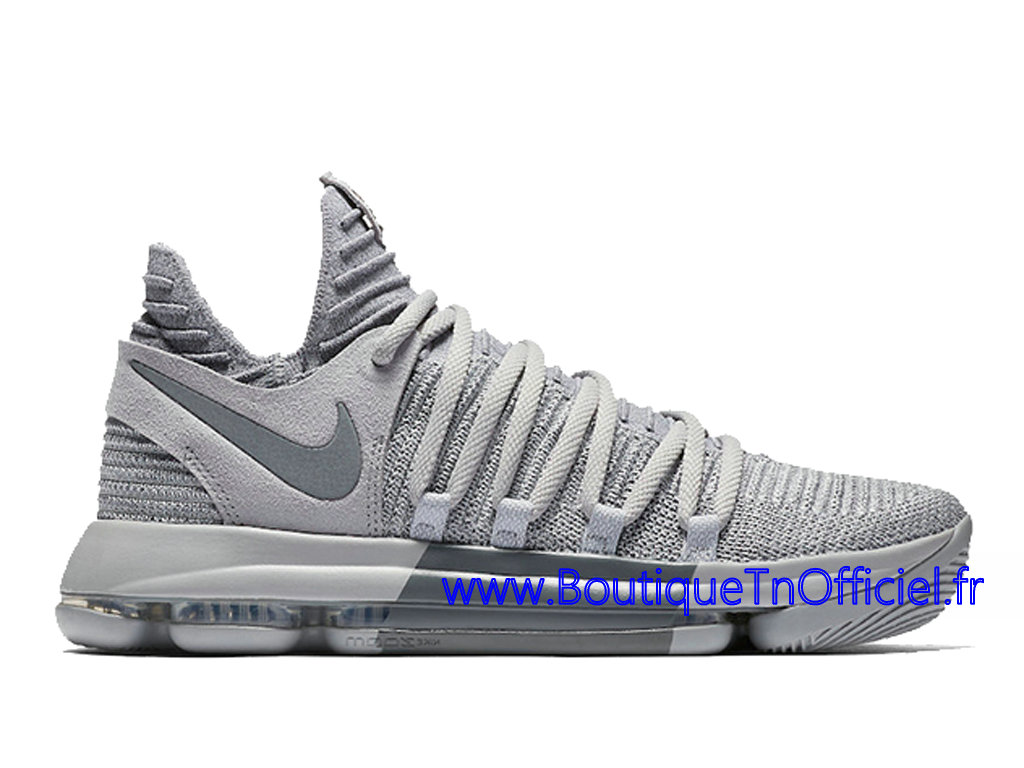 Officiel Nike KD 10 Wolf Grery Cool Grey Chaussures Nike 2018 Pas Cher Pour Homme Gris 897815-007