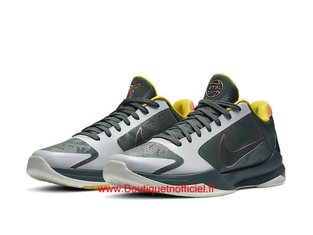 Officiel Nike Kobe 5 Protro EYBL Forest Green CD4991-300 Chaussures Nike Basket Pas Cher Pour Homme