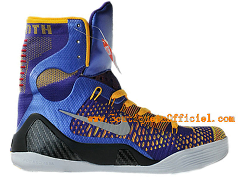 Officiel Nike Kobe 9/IX Elite Chaussures Baskets Nike Pas Cher Pour Homme Court Purple/Blanc-Laser Orange-Wolf Gris 630847-500