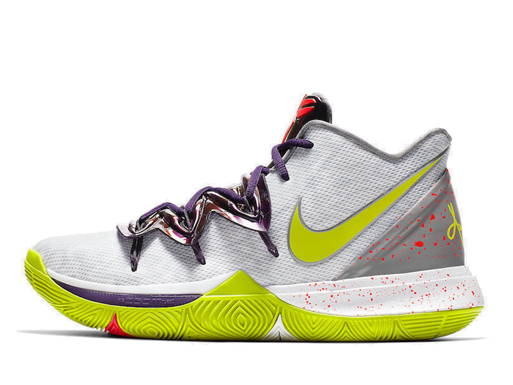 Officiel Nike Kyrie 5 Chaussures Nike 2020 Pas Cher Pour Homme Blanc Vert AO2918-102