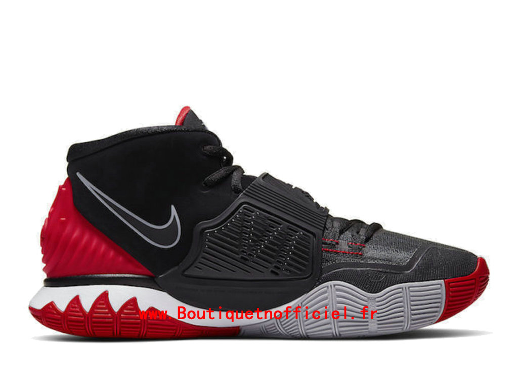 Officiel Nike Kyrie 6 Black University Red White Chaussures