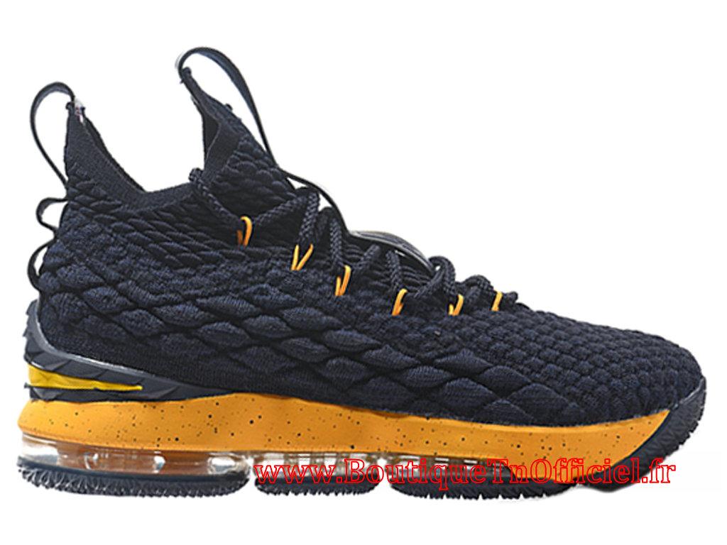 Officiel Nike LeBron 15 Chaussures de BasketBall Pas Cher Pour Homme Noir Jaune 897648 ID9 1712062278 Officiel Nike Site! Chaussures Tn Distributeur